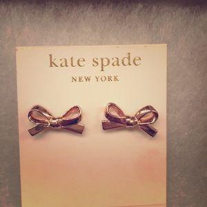 Kate Spade New York earrings, Rose gold tone